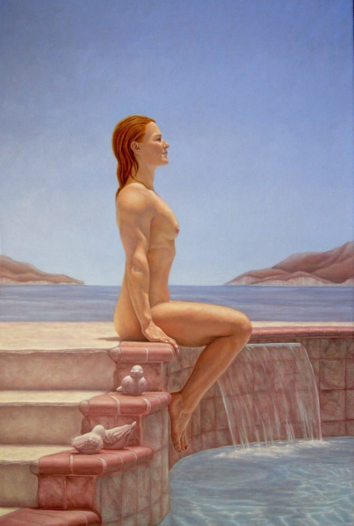 Catherine Lucas Oil Painting of figure